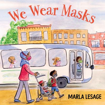 Book cover of WE WEAR MASKS