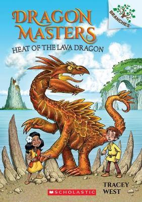 Book cover of DRAGON MASTERS 18 HEAT OF THE LAVA DRAGON